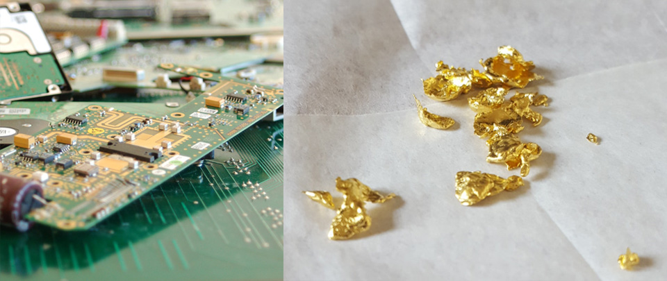 recycling gold from circuit boards