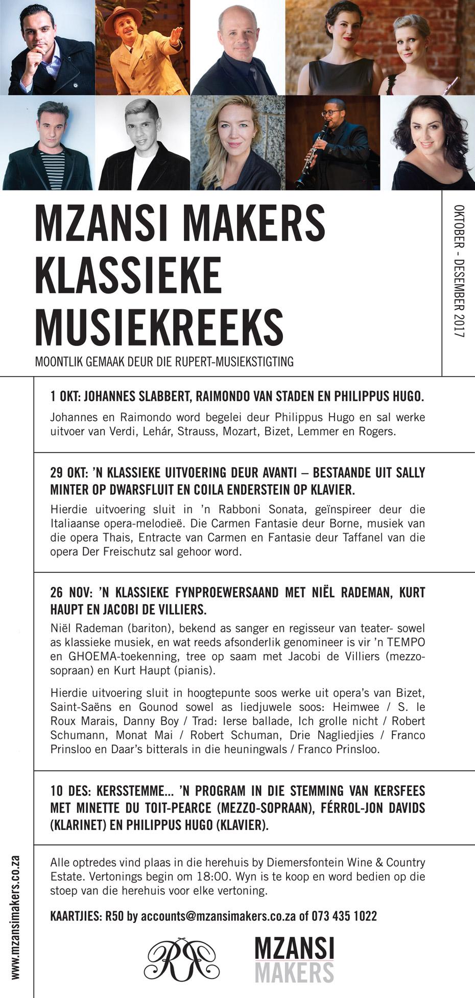 Mzansi Makers Klassieke Musiek Reeks