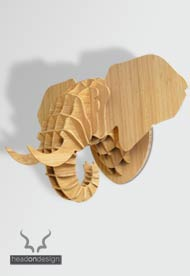 Head On Design elephant in bamboo