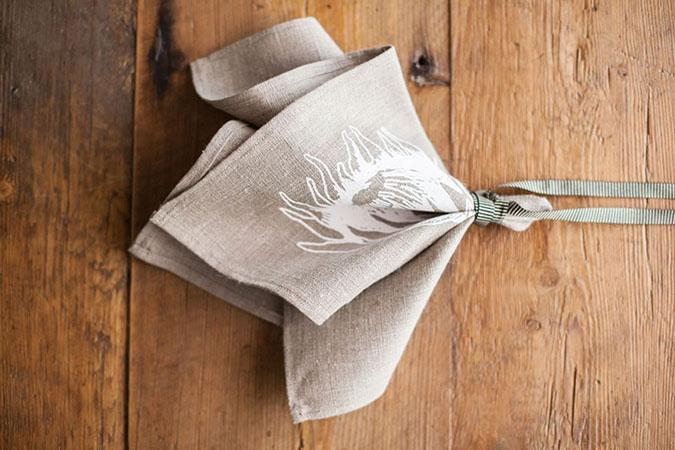 Cotton Protea Napkins