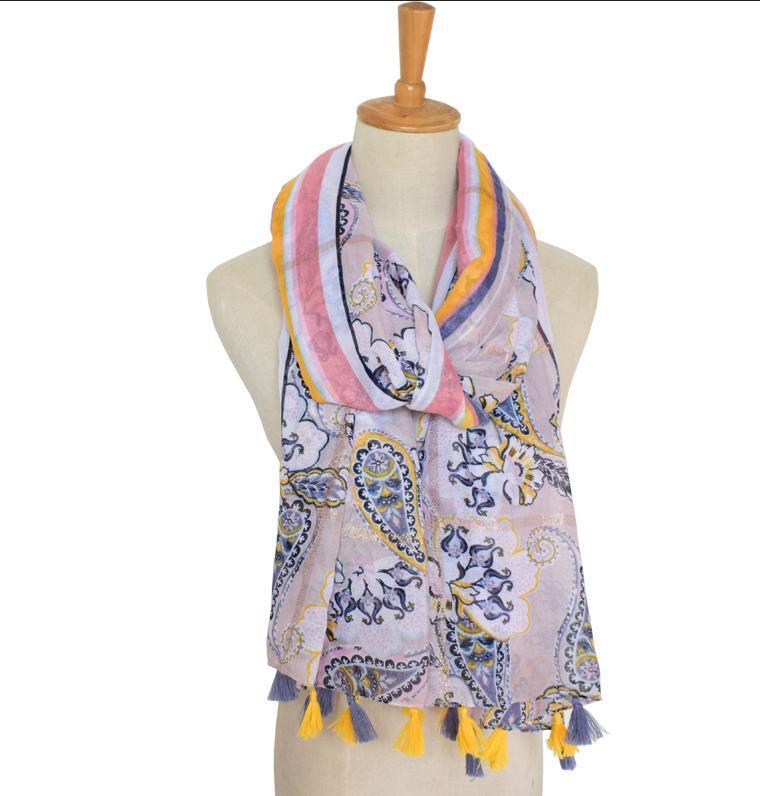 Paisley stripe scarf