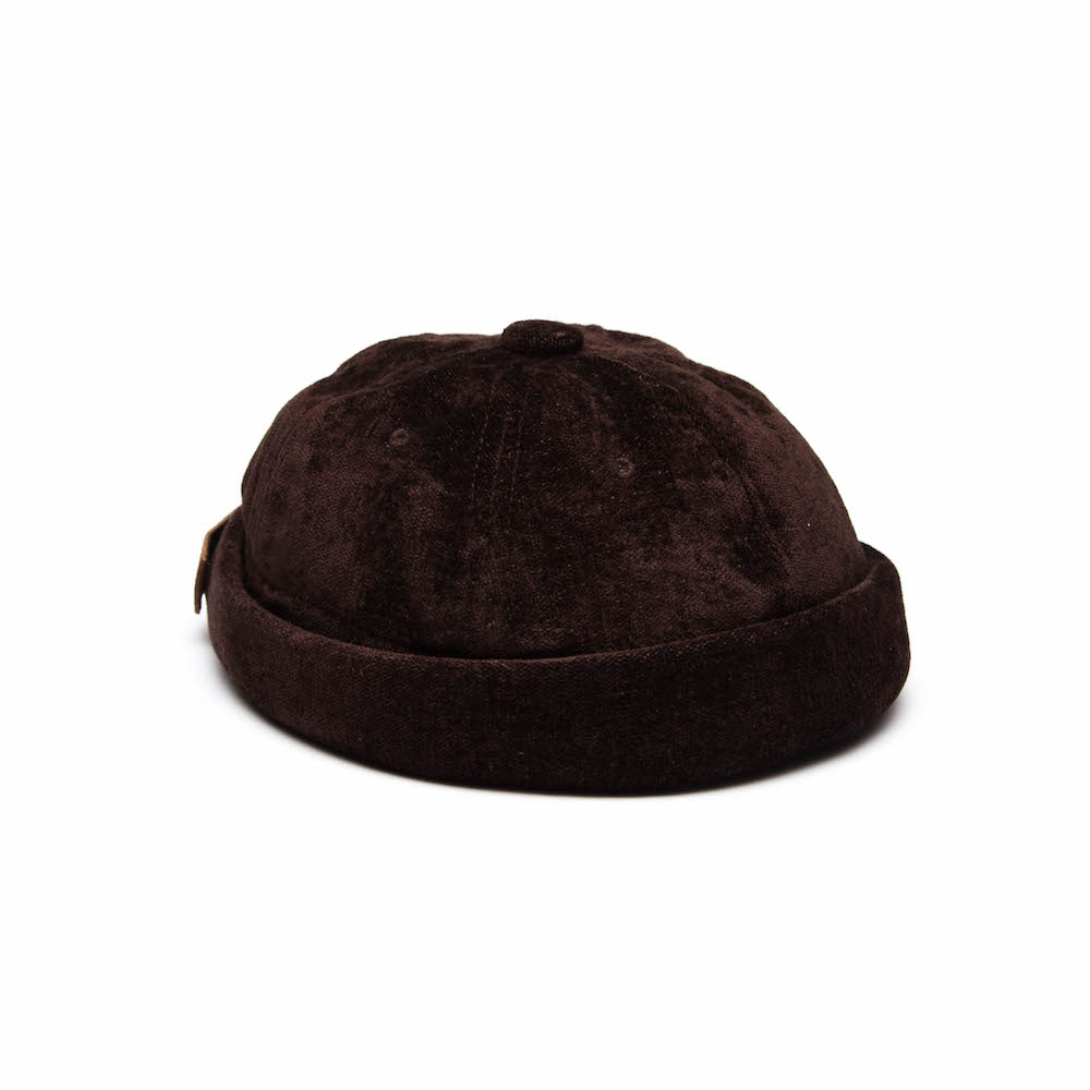 Yarmulke Short Cap - Coffee Bean