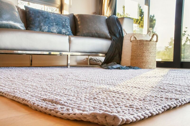 Cotton Crochet Rug - Square