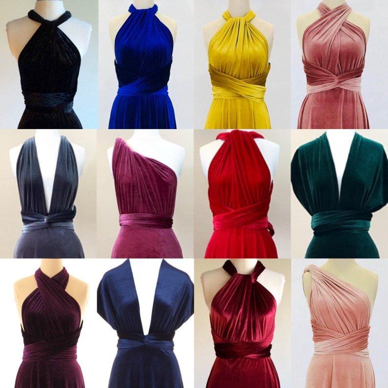 Velvet Infinity Dress