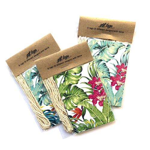 Retro tropics gift  tags