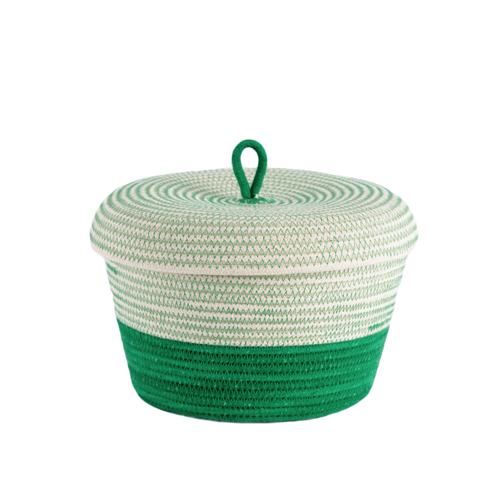 Lidded Basket - greenery