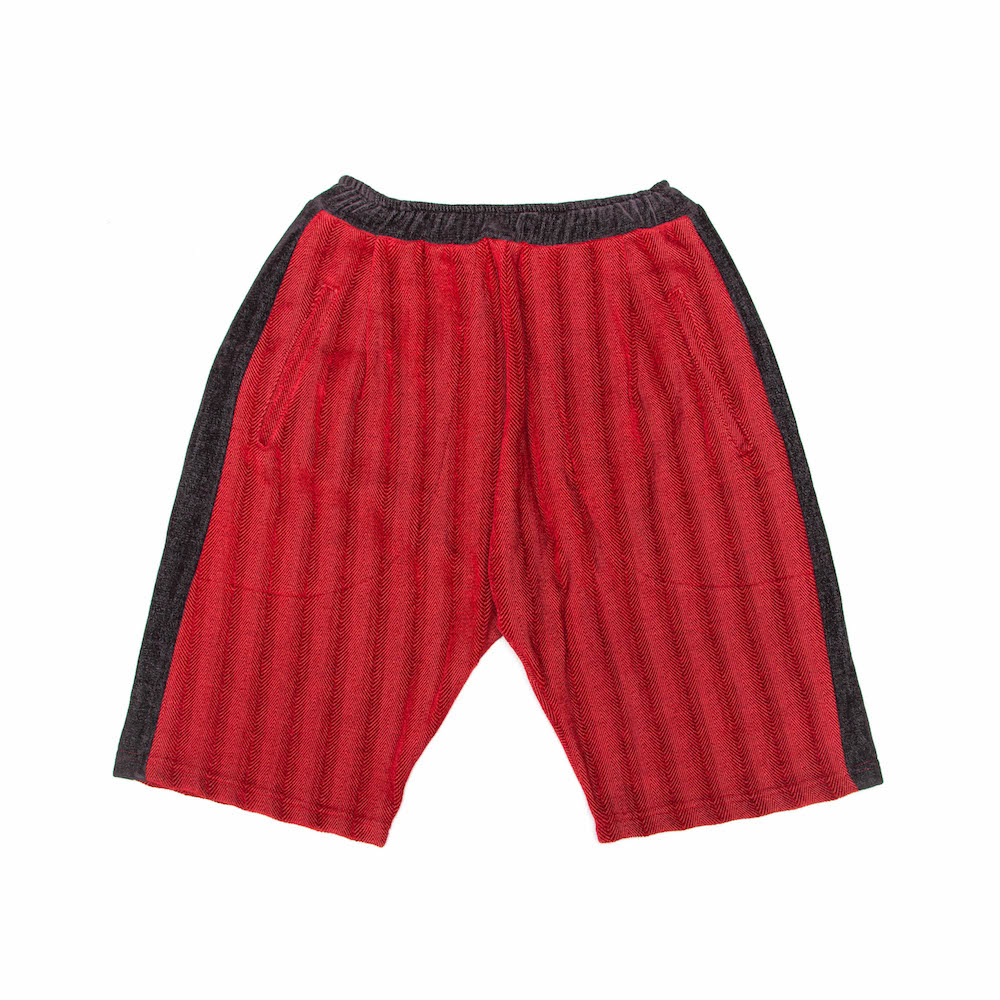 Dinner Shorts - Red Herringbone