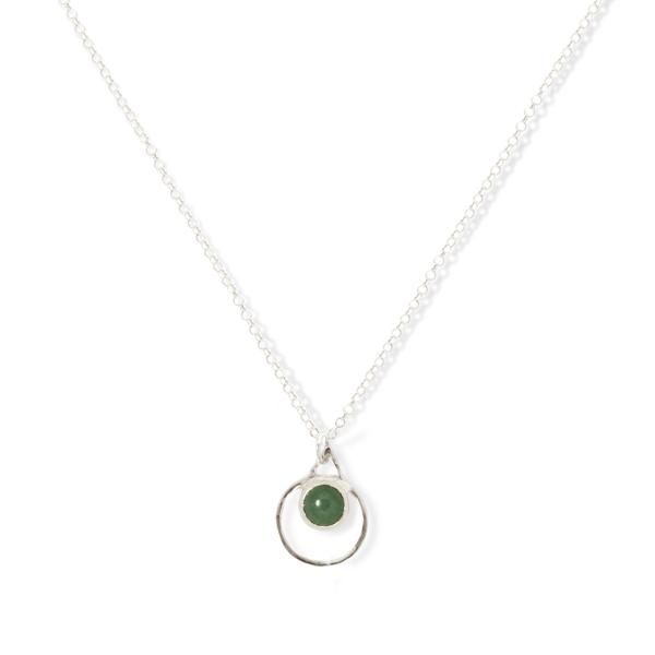 Small Single Chakra Pendant (Jade)
