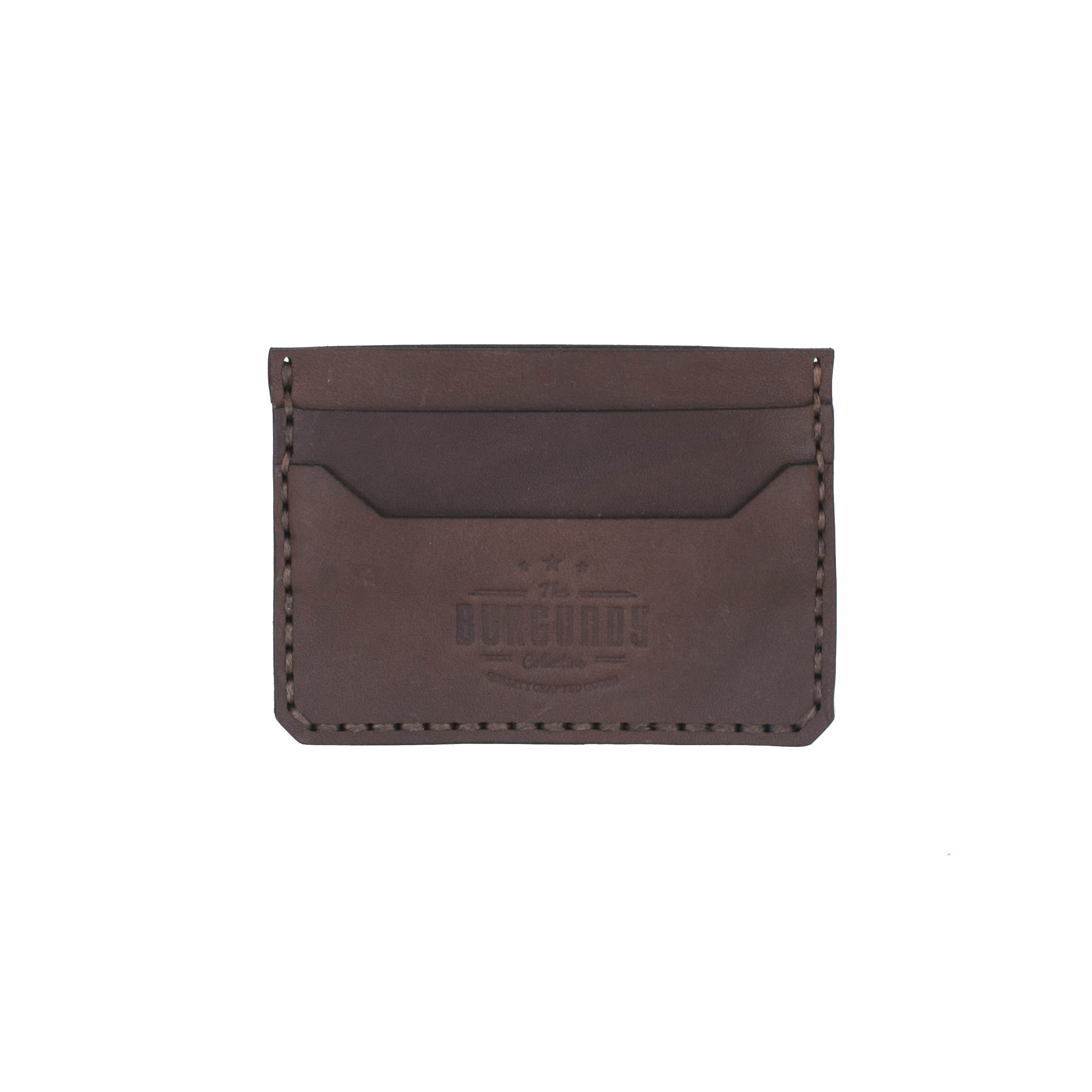 This wallet offers the right amount of space for your frequently used cards. The width is large enough to allow easy entry yet tight enough to prevent cards from slipping out. The Minimalist Card holder has a weathered look from the moment you receive it.    FEATURES:   Crafted from premium vegetable tanned leather 4 card slots 1 main compartment for notes or slips     DIMENSIONS:  H 7,5cm x W 10cm