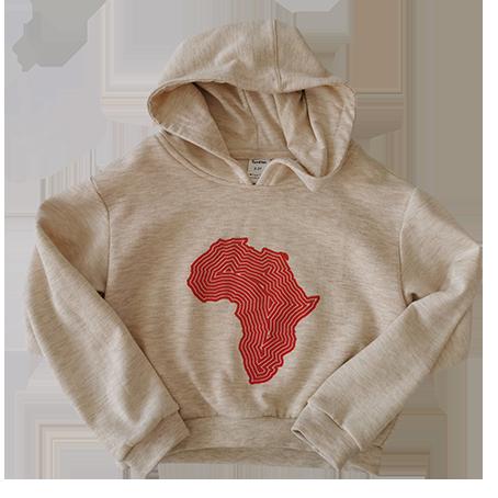 Africa hoodie red