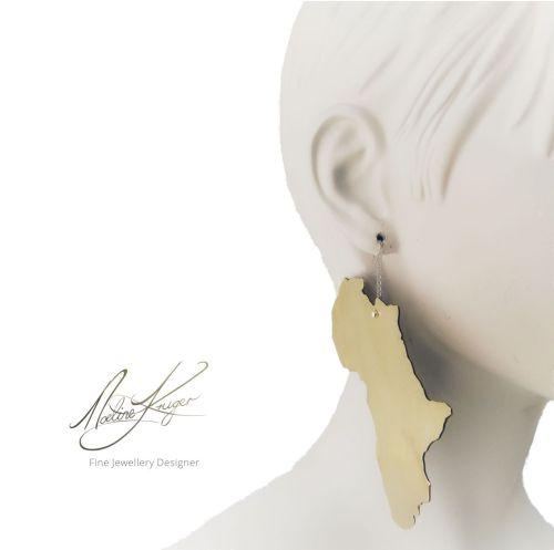 Brass Africa Earrings