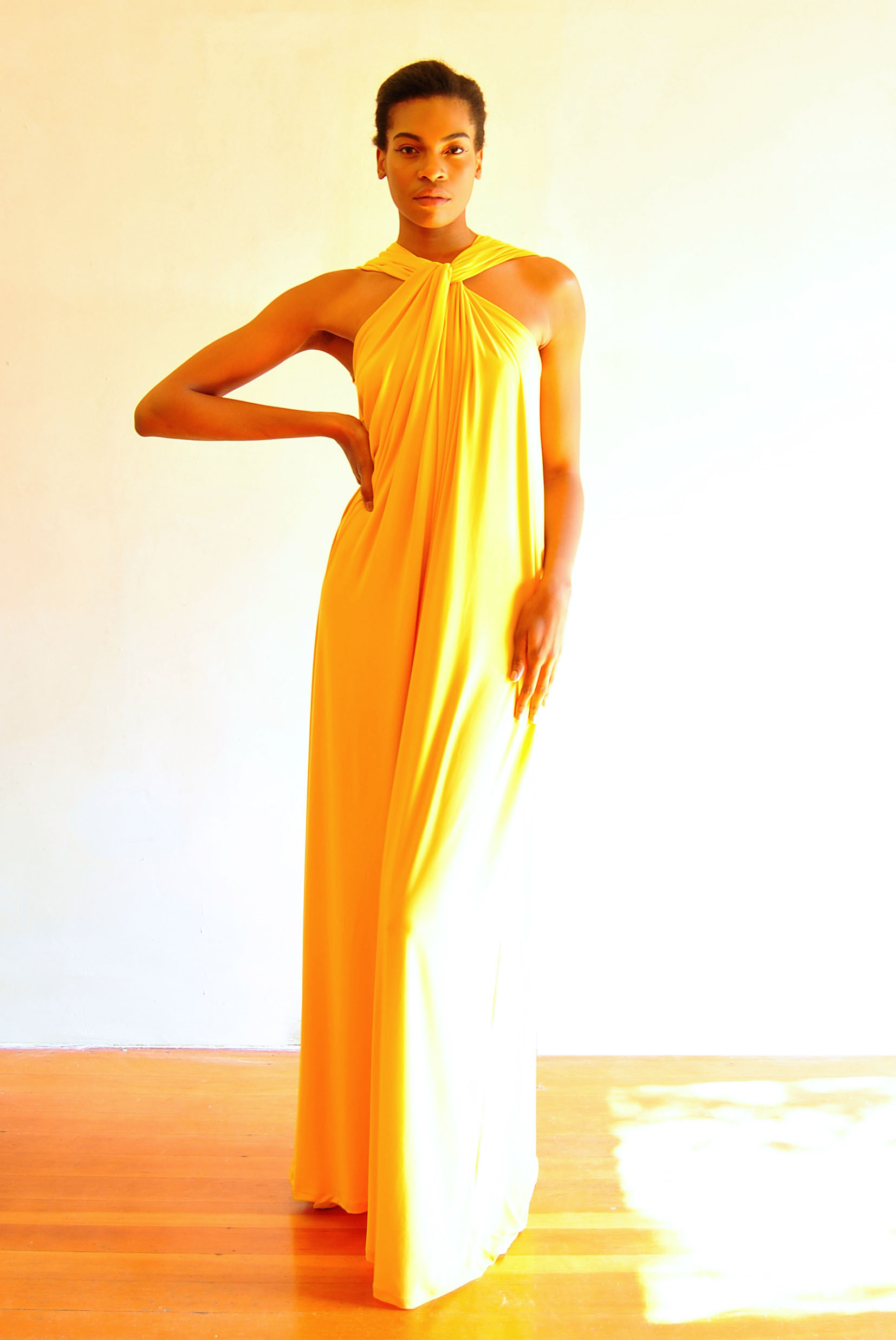 Twist Maxi Dress Yellow