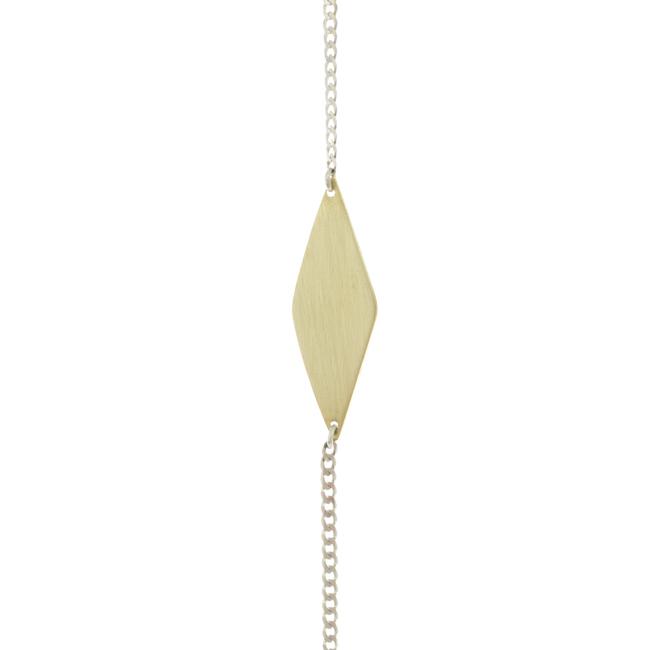 Diamond brass bracelet
