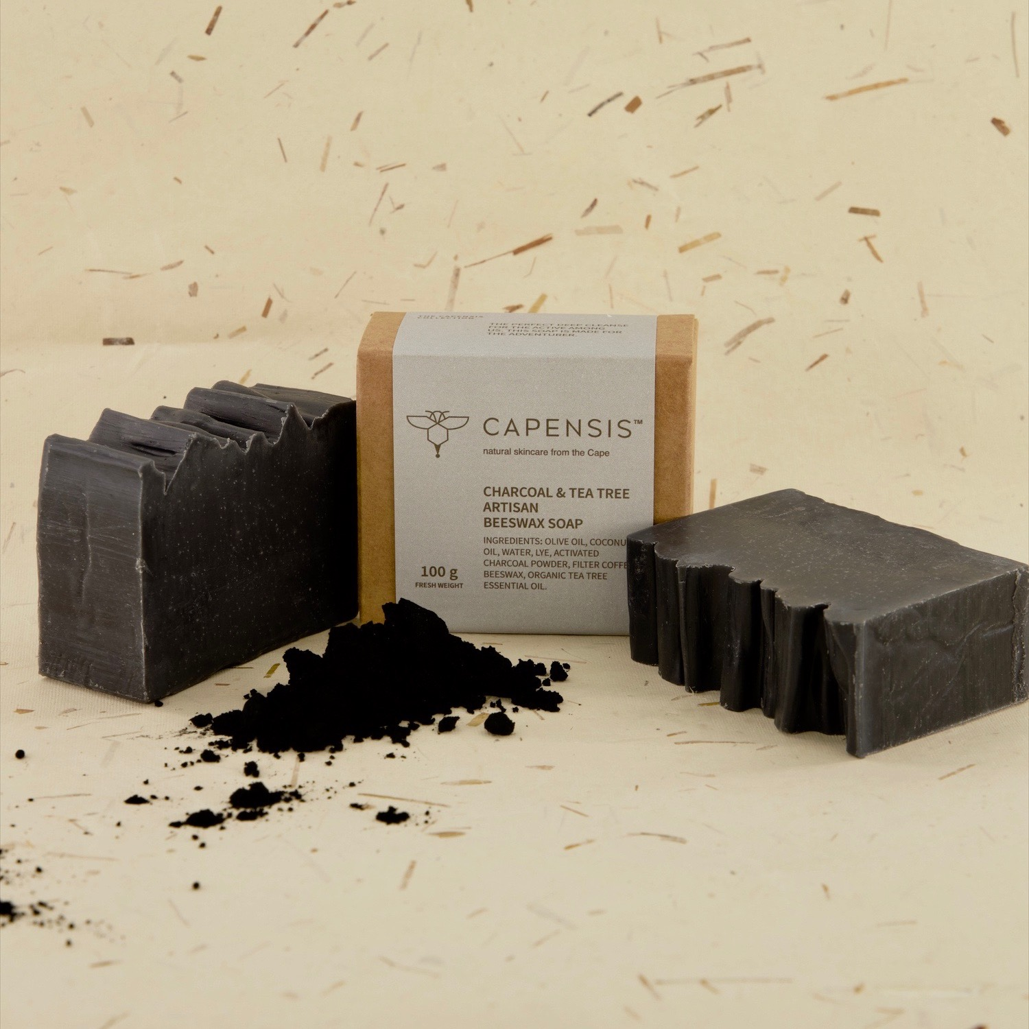 Tea Tree has impressive antiseptic, anti-fungal and antibacterial properties, making it widely used in the treatment of many skin conditions. Activated charcoal is great for removing excess oils and toxins hidden in the pores of your skin. It binds to dirt and helps pull it out of your pores. This soap is good for balancing oily skin, detoxifying skin and for the treatment of acne.