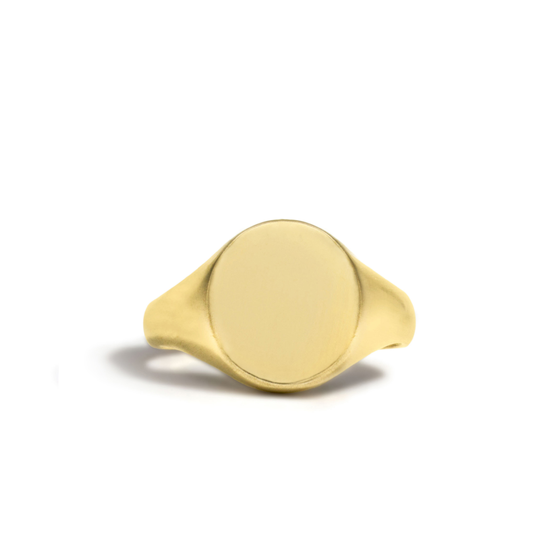 Solid Oval Small Signet Ring