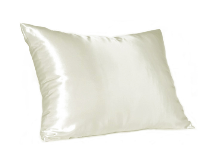 Cream Satin Pillow Slip - Standard