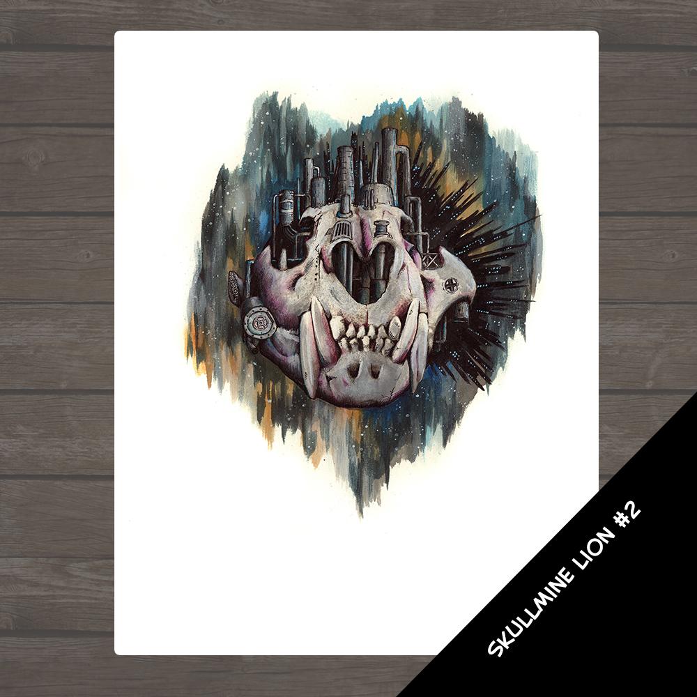 Skull Mine - Lion 2 Illustration
