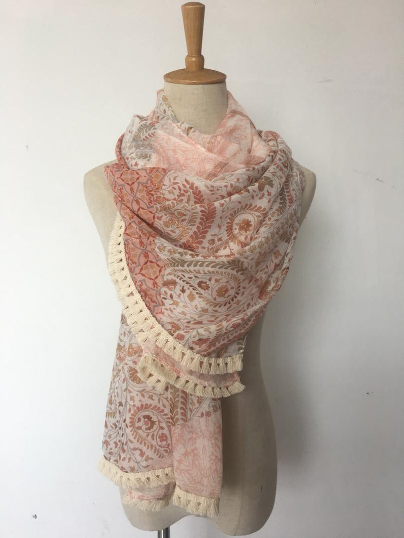 Pastel crochet scarf