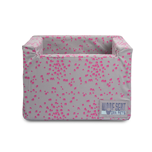 Light Grey Bull Denim with Magenta swallow print