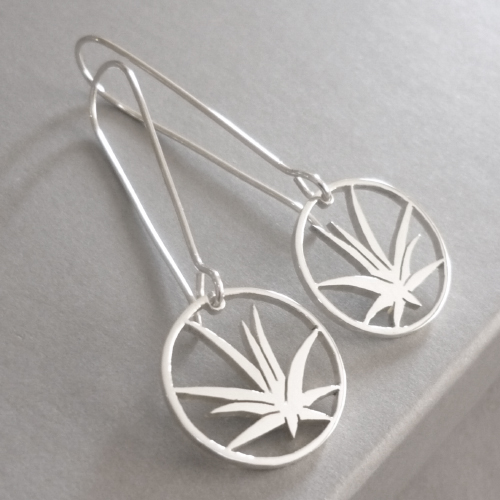 Sterling Silver Aloe Drop Earrings