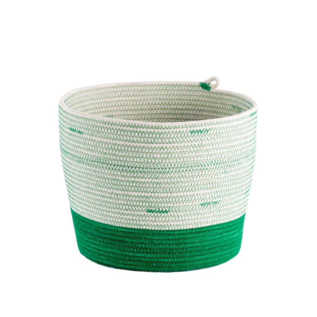 Cylinder Basket - greenery