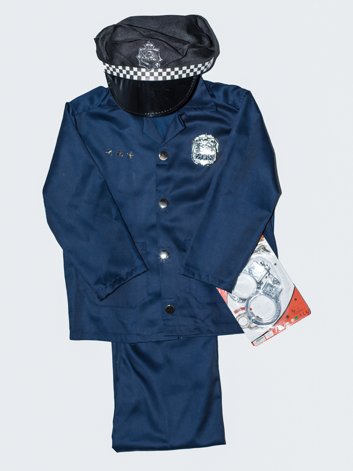 Let you child be the hero with our 2 piece Policeman outfits. Jacket and pants. Excellent quality.  Comes with some accessories too.