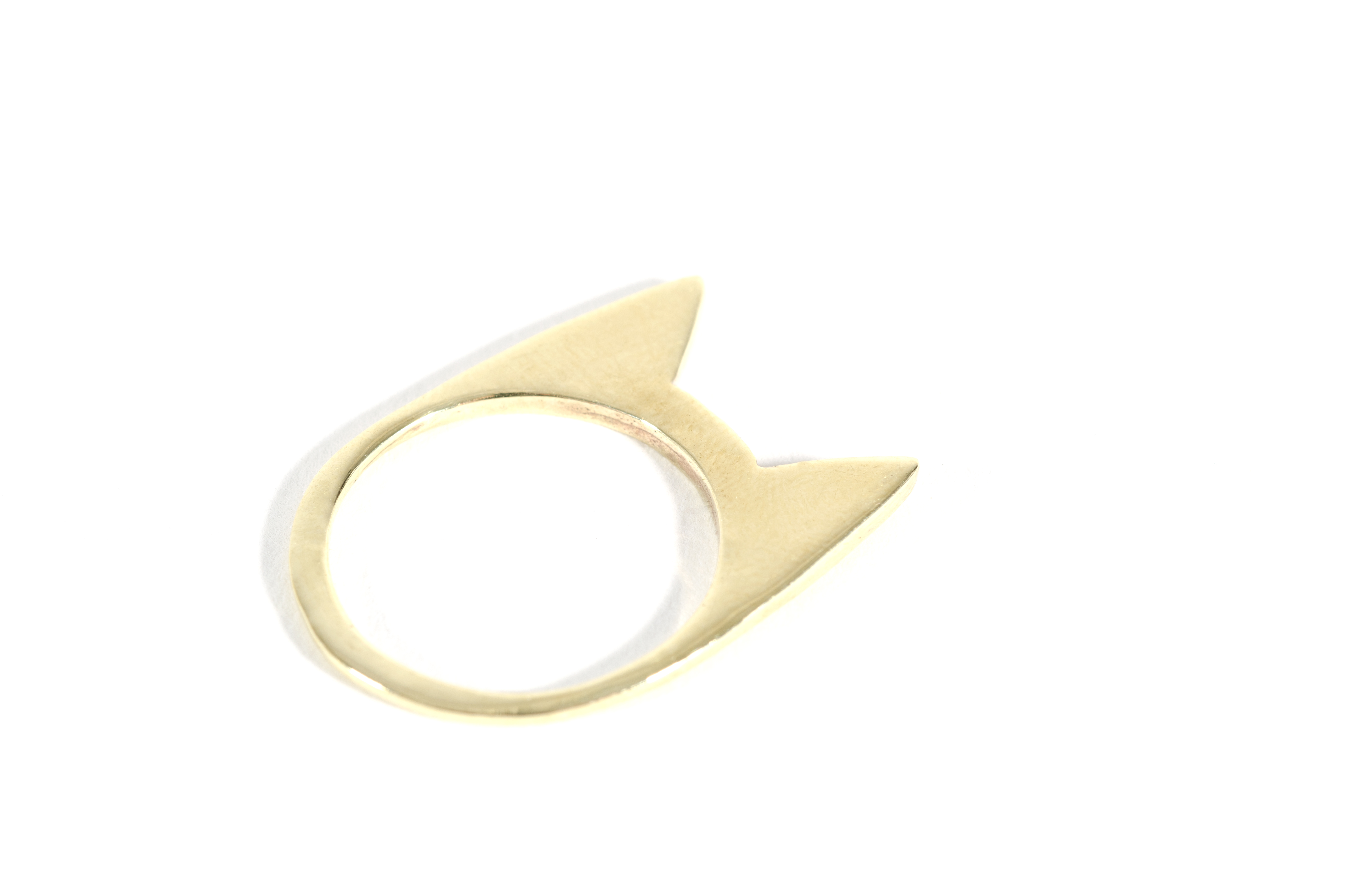 Cat Ring Brass
