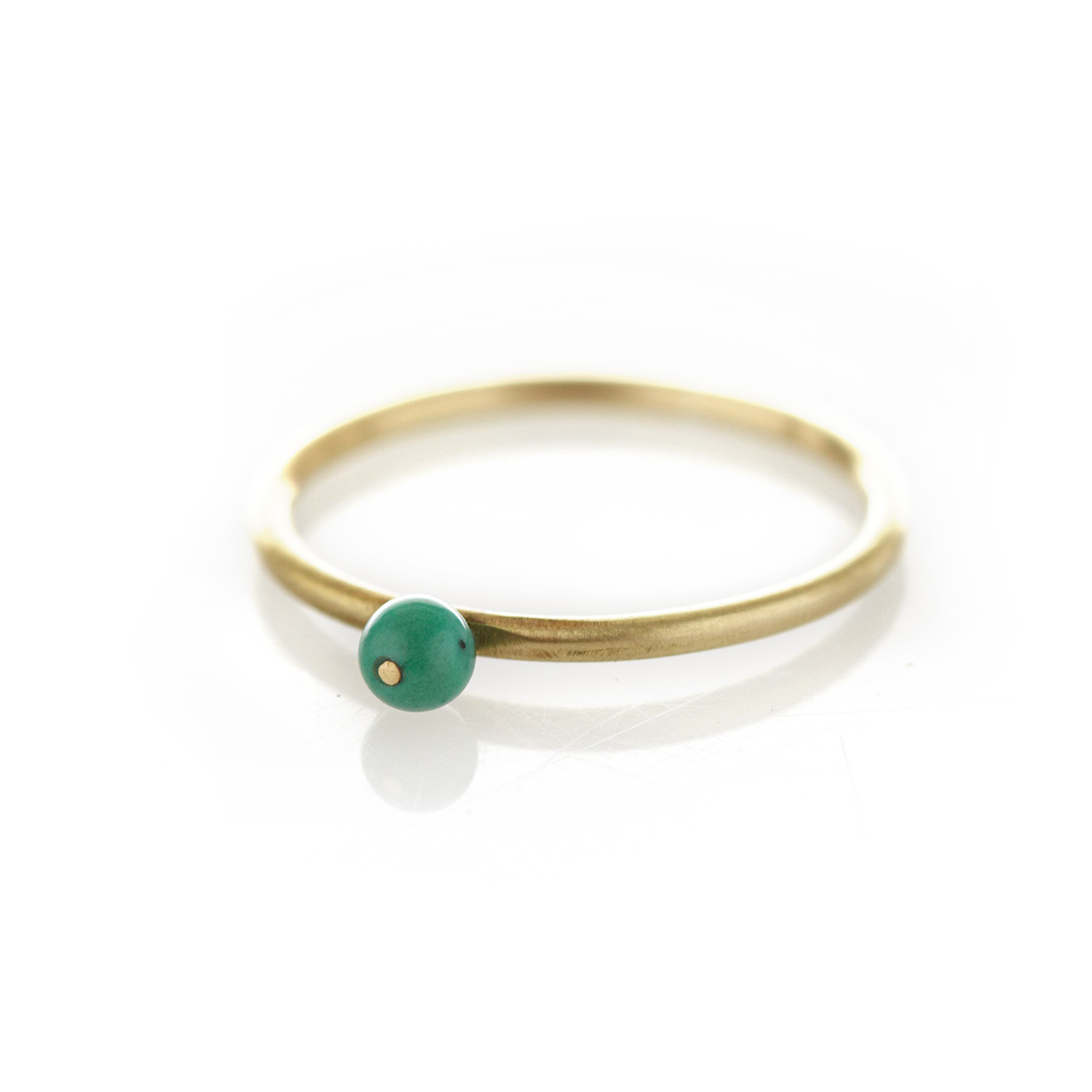 Turquoise brass ring
