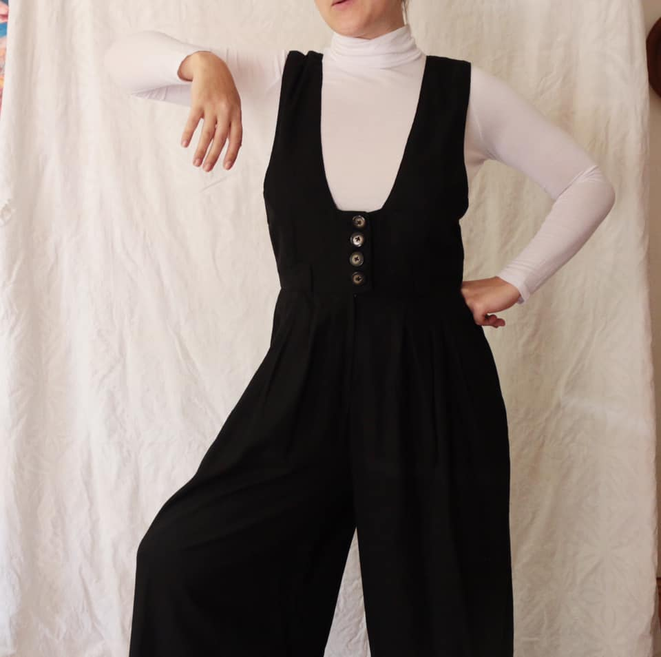 These Jumpsuits are great for formal events, aswell as important business meetings, or even just a day out depending on where you are of to.  We love how the flares at the bottom allow the same freedom as a dress but the pants and length give you an elegant height.  All our jumpsuits are handmade and made to order, preshrunk Linen or 100% Cotton dependant on availability.  Currently available in Burnt Orange, Olive Green, Black, Unbleached Cotton, we are able to do another colour upon request.  We ask for 7-10 working days for your order to be processed.  L&F