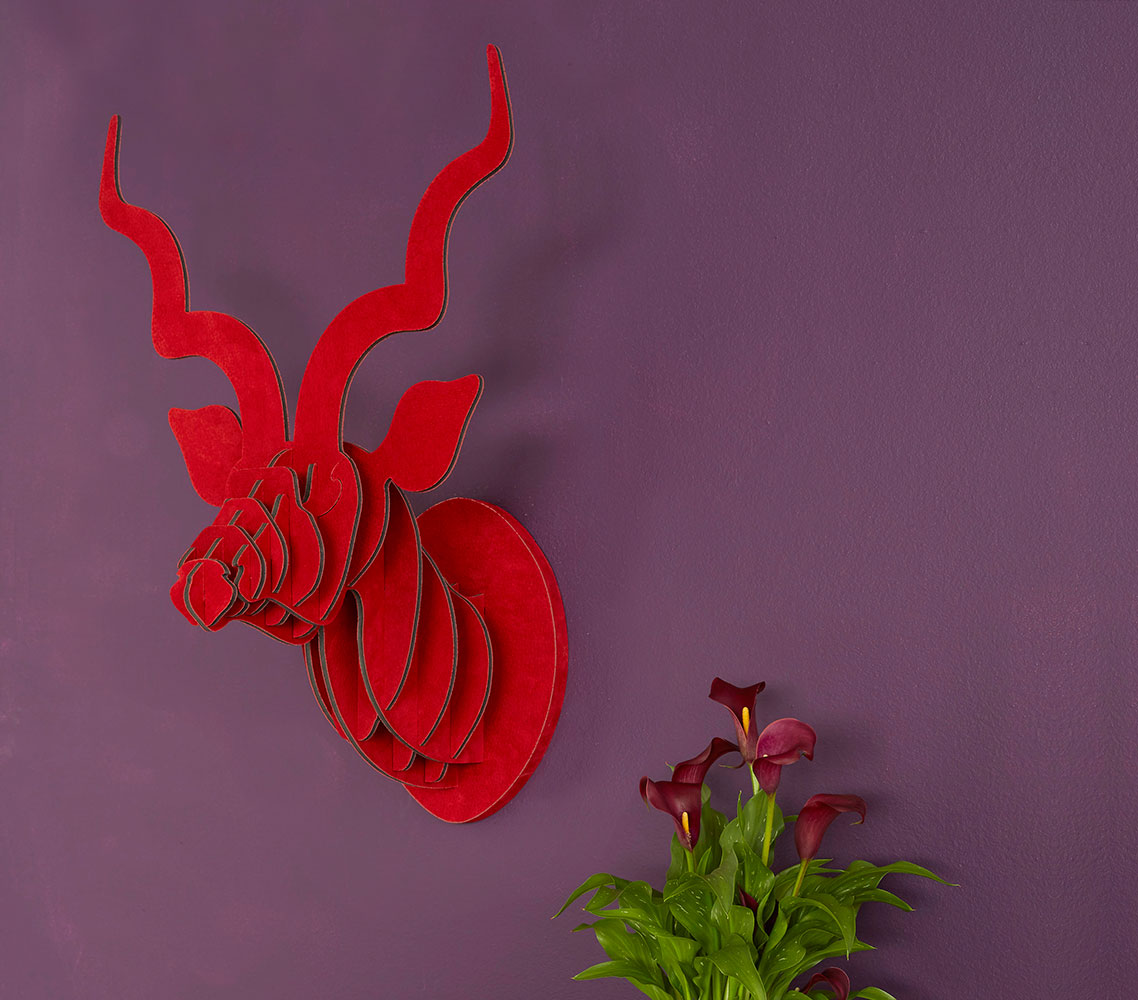 Available in RED SUEDE LEATHER (Med)