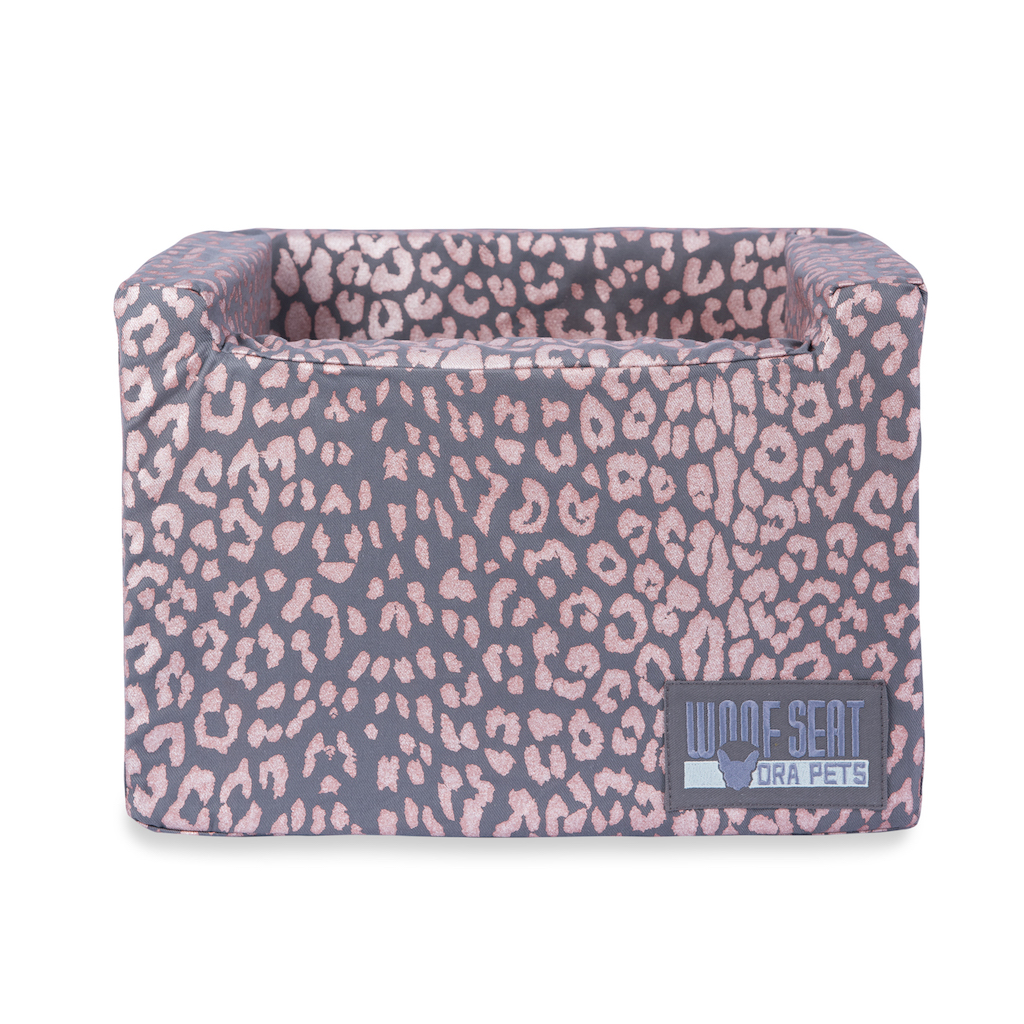 Woof Seat Original - Printed Range - Rose Gold Metallic Animal Print