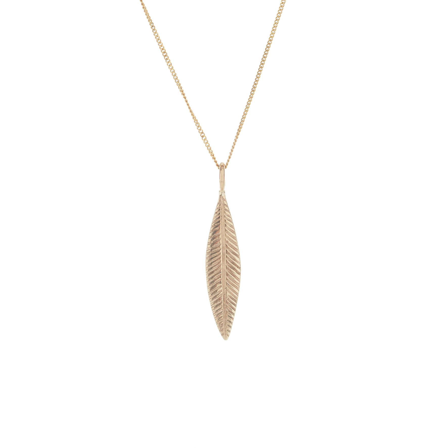 Gold palm pendant