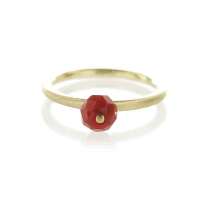 Carnelian brass ring