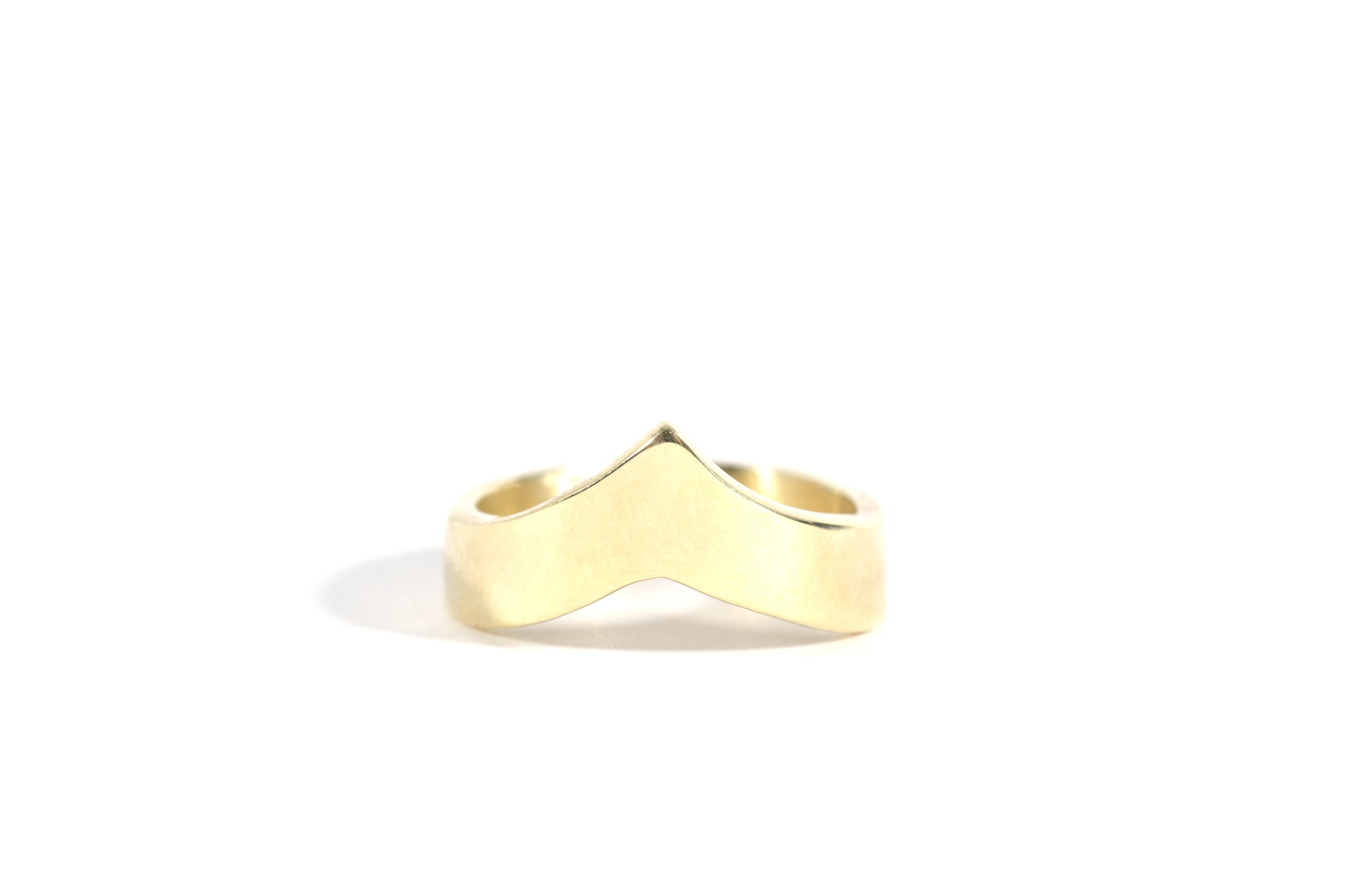 Wishbone Ring Brass