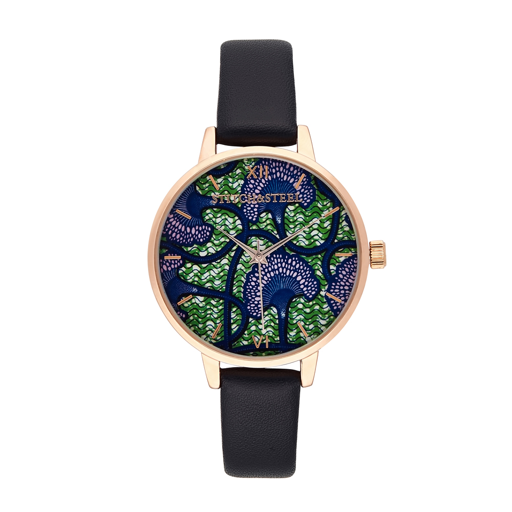Every dream begins with a wish. Our dandelion African print watch was inspired by the lush green landscape of unexplored African terrain. Although considered a weed by some, the dandelion is also the magical plant which gives you wishes when you blow its flowers. And the one we wish we've made come true, is giving you a unique and admirable timepiece compliment any outfit, anytime. Each one of our watches comes with a manufacturers warranty enclosed in the box, we pride ourselves in our packaging where each watch comes with a unique African Dutch Wax Print Drawstring bag which has been made by local women in South Africa as we pride ourselves to be a design company whom supports our local community.