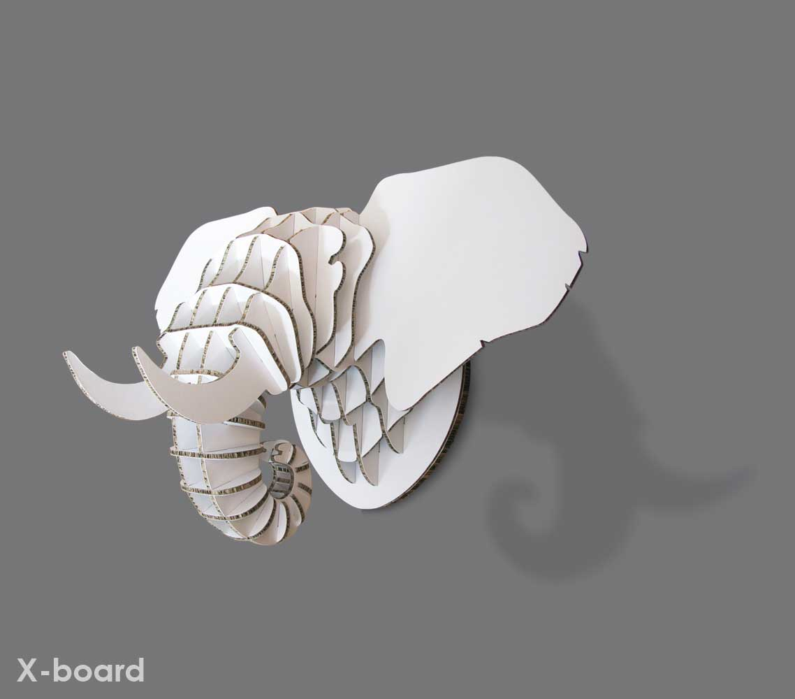 Elephant Trophy Head in X-Board