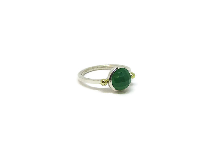 Chrysophrase Gemstone ring