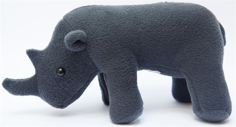 An African original soft toy. This adorable plush creature is handmade from soft felt-like fabric, with black button eyes. A perfect reminder to our children of our precious and endangered wildlife heritage.
