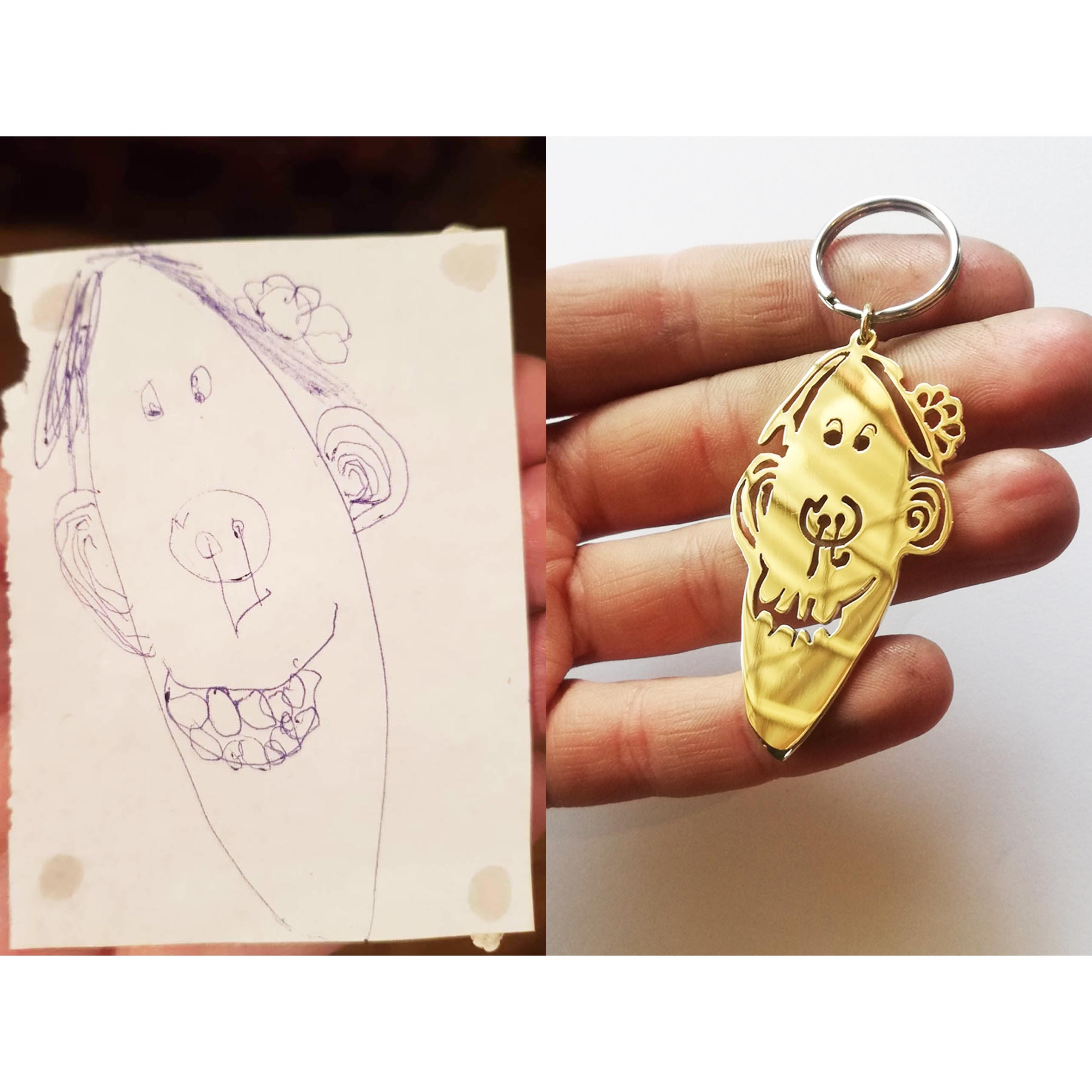 CUSTOM KIDDIES ART Keychain