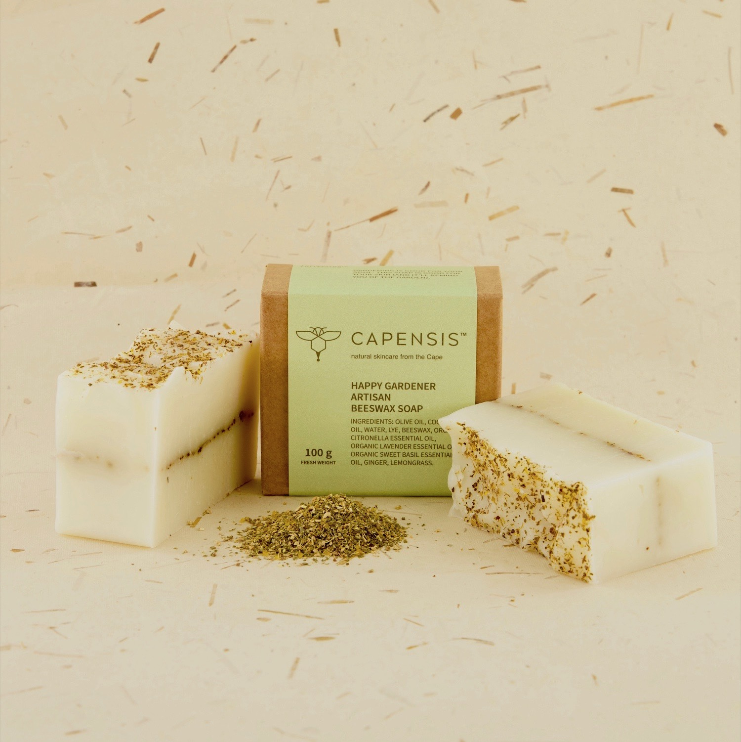 Gardening is good for your soul. This soap is too. That's why no gardener should be without this soap! The combination of oils and essential oils in this soap are packed with antiseptic, bactericidal, deodorant and toning properties. It is relaxing, calming, uplifting and cleansing, comforting and helpful for clarity and strength of mind.