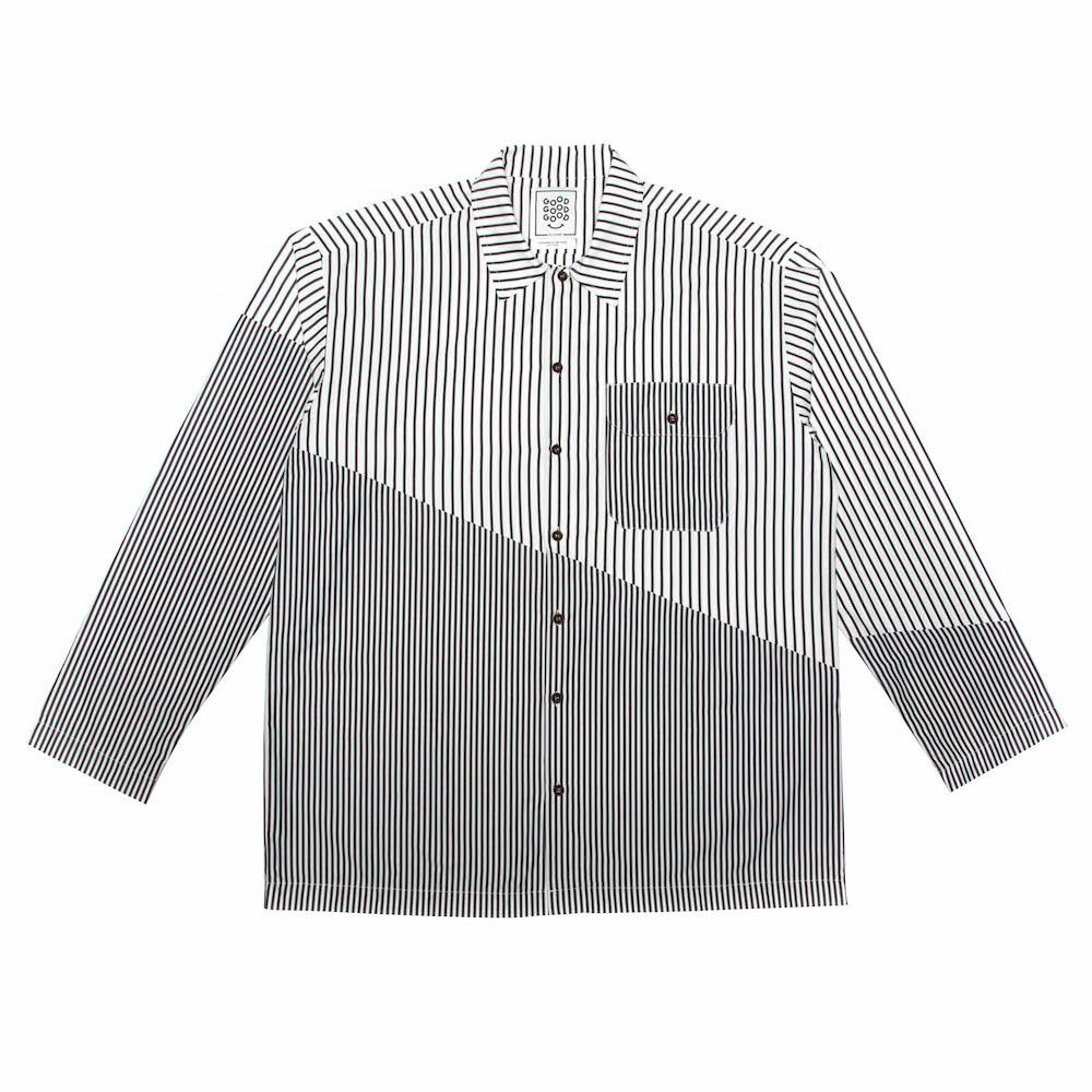 Resort Shirt - Diagonal Split - Charcoal