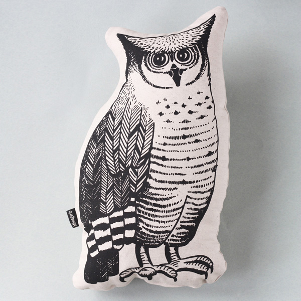 Owl is part of a menagerie of animal cushions for your home.