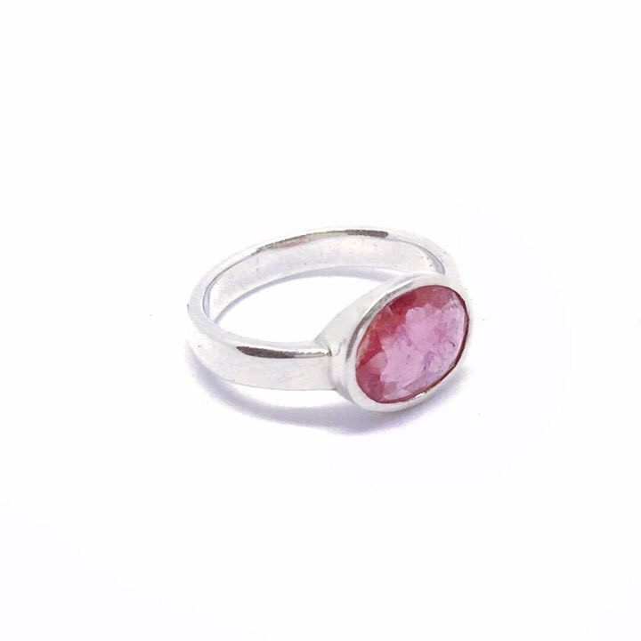 Our Mila Ring is handmade in sterling silver and features a beautiful 8mm x 10mm Ruby.