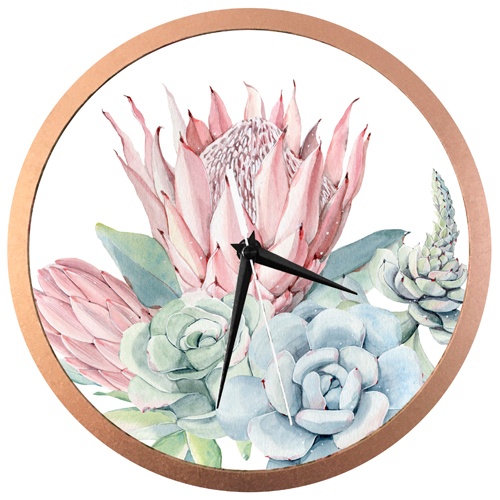 African Rose Wall Clock