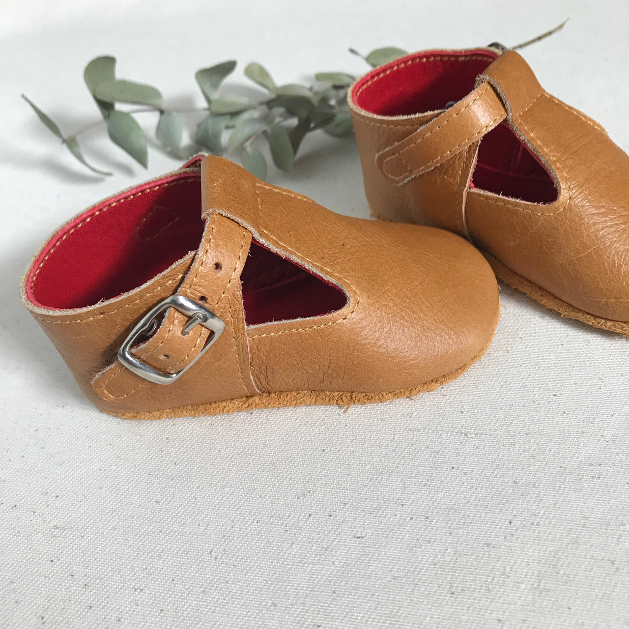 Tan Leather Mary Janes