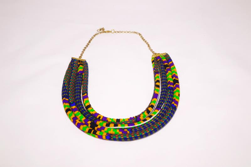 The Akan neckpiece is a real statement piece and will add personality to any look. Go on, wear it on your girls night out or to the office, you won't be disappointed!