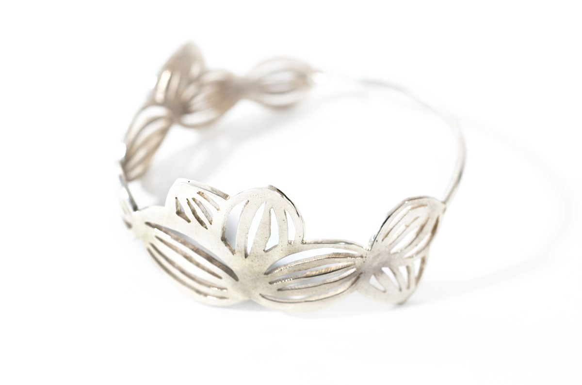 Silver Drawing Bangle
