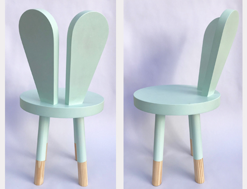 A quirkly little bunny chair, ideal for any toddler!