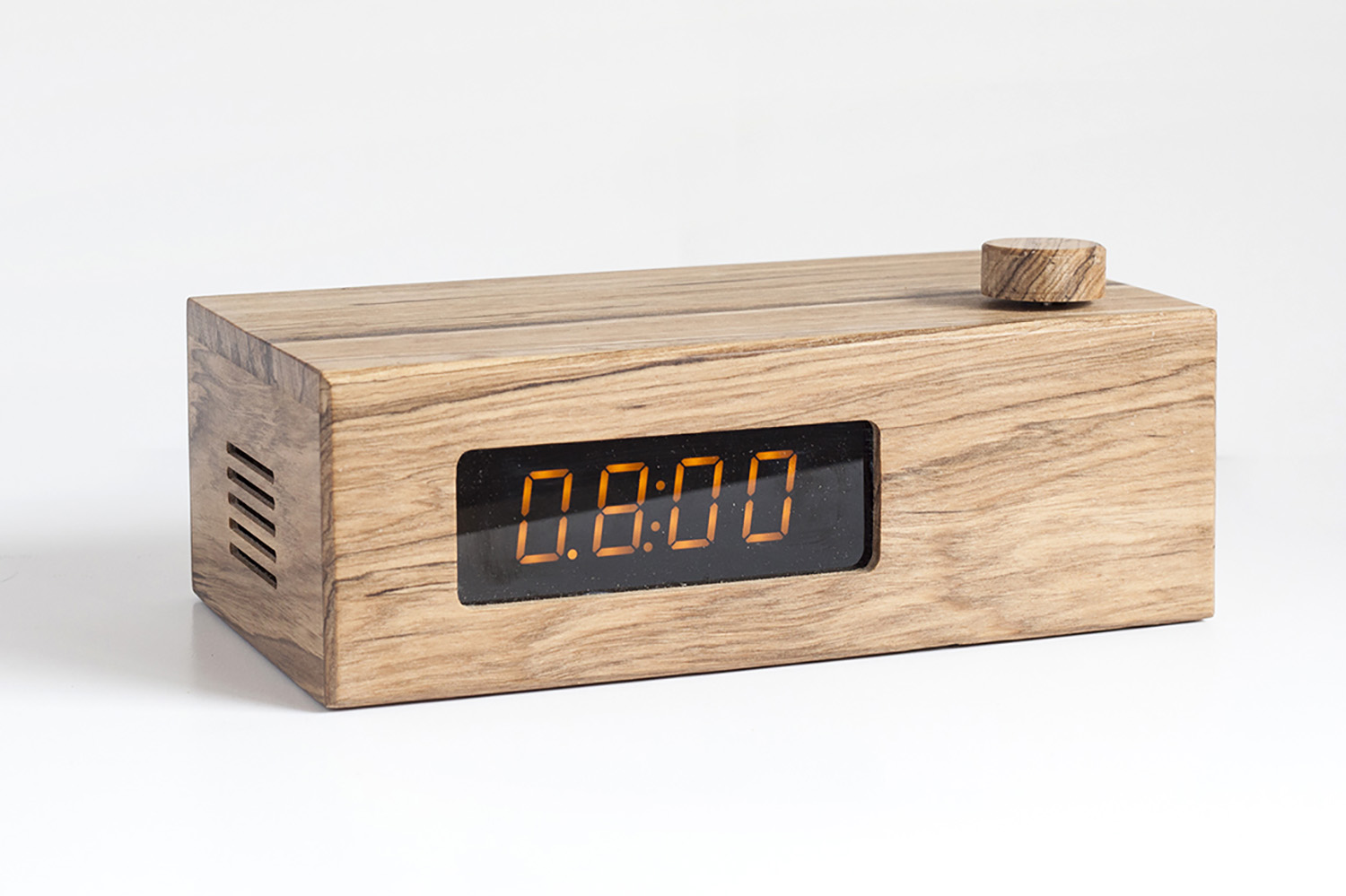 The Shibby Rise makes waking up so much prettier.  The timeless design and authentic wood feel makes it the perfect piece for any stylish space.    Features:   LED clock display Built in cellphone charger SD memory card slot Latest Bluetooth technology, 10m range Aux port Size: 21cm x 12cm x 6cm     Accessories:   1x micro USB charging cable 1x aux cable 1x USB charging adapter