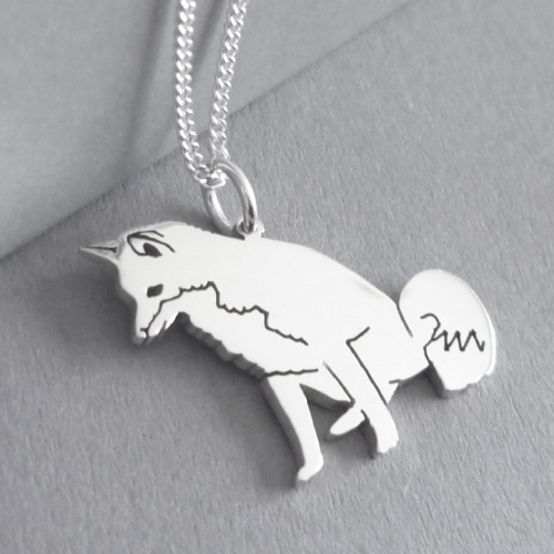 Fox Pendant on Chain